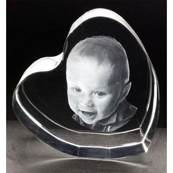 HEA0100 - 3D - Heart - Large Size - 100 x 100 x 40mm