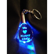 KEYRING_TEARDROP - 2D Teardrop Keyring with Optional Pushbutton LED  - 40 x 35 x 15mm